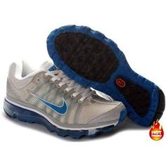Nike Air Max 2009 Women Mesh Shoes Grey/Blue Color Air Max 2009, Air Max Sneakers, Sneakers Nike, Nike Tennis, Cheap Air, Blue Grey, Nike Air Max, Mesh, Shoes
