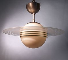 """Ceiling lamp """"Saturn"""", c.1930´s Design by Edvard Hald; Produced by Orrefors"""
