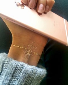 New in Iphone rose gold and temporary tattoo by Luludk. Temporary Tattoos, My Photos, Rose Gold, Iphone, Chic, Elegant