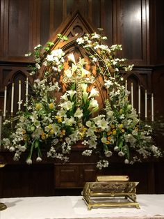 Easter flowers at my church.