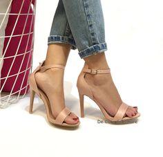 Sandali alti donna con cinturino alla caviglia 10cm E71