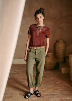 Summer Office Attire, Summer Work Outfits, Casual Work Outfits, Fall Outfits, Transport Routier, Androgynous Fashion, Coton Biologique, Parisian Style, Rock