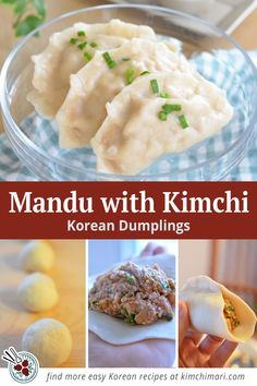 Kimchi Dumplings are my favorite Korean Mandu of all time. Recipe includes handmade dough from scratch or use ready made wonton wraps. #koreanfood #dumplings #asianfood #potstickers #kimchimari Easy Korean Recipes, Asian Recipes, Ethnic Recipes, Stuffed Dumplings, Korean Dumplings, Wonton Wraps, Korean Noodles, Dumpling Wrappers, Korean Food