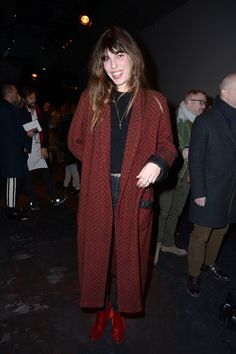 Lou Doillon attends the Berluti Menswear Fall/Winter 2017-2018 show as part of Paris Fashion Week on January 20, 2017 in Paris, France.