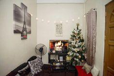 Almost Christmas  #HolidayDecor #CHRISTmas #WallArt #WallDecor #fireplace #virtualfireplace #Mrsbhomeimprovement #tinyhouse #smallspaceliving #interiordesign #interiordesignenthusiast
