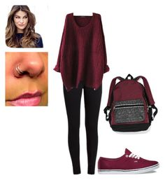 """school fall outfit"" by debbiepapad ❤ liked on Polyvore featuring Vans, Victoria's Secret and ULTA"