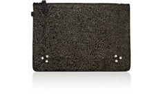 JÉRÔME DREYFUSS Popoche Medium Pouch. #jérômedreyfuss #bags #leather #pouch #accessories #metallic #
