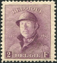 Catawiki online auction house: Belgium 1919 - King Albert I with helmet, with plate error/print incident - OBP 176