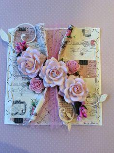 Magnolia papers, Ribbon Girl Roses I Gen, Mix Media, Magnolia, Ribbon, Roses, Paper, Cards, Tape, Treadmills