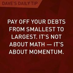 Be debt free. Debt = stress.