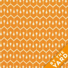FreeSpirit True Colors by Heather Bailey - Tangerine Pattern - By the Yard