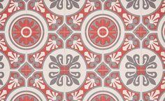 Sol vinyle EMOTION, carreau ciment rouge et gris, rouleau 4 m - Les sols aspect carreaux de ciment - Collection Sol - Saint Maclou