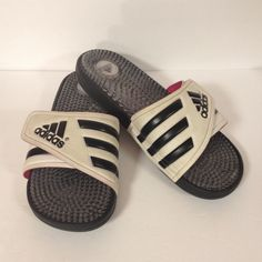 23cd8787c182f adidas Shoes | Adidas Slides Slip On Shoes 7 | Color: Black/White | Size: 7