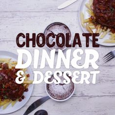 Make chocolate a complete meal with red wine, chocolate chicken and an easy chocolate soufflé.