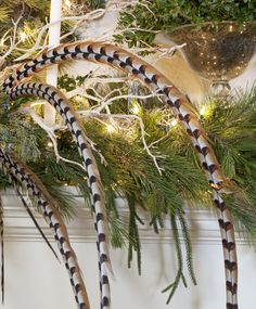 love using pheasant feathers in with the greens . . .
