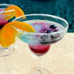 Blueberry Orange Margaritas