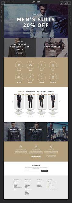Men's Suits Online Store #Prestashop #template. #themes #business #responsive #webshop #Prestashopthemes