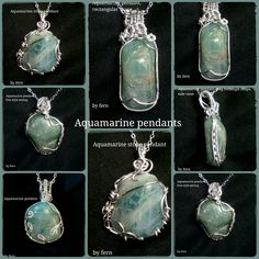by HippieshopAfrica on Etsy Aquamarine Pendant, Birthstone Pendant, Aquamarine Stone, Birthstones By Month, Pendant Jewelry, Pendant Necklace, March Month, Stone Pendants, Drop Earrings