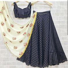 Designer lehenga, nevi blue lehenga, readymade blouse, lehenga choli for women, . Lehenga Choli, Blouse Lehenga, Lehenga Indien, Lehenga Skirt, Choli Designs, Lehenga Designs, Blouse Designs, Indian Dresses, Skirts