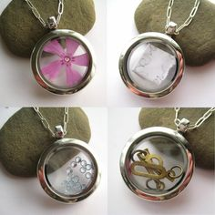 Glass Memory Locket, for keepsakes, photos, charms, love notes