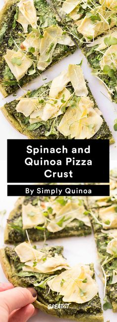 5. Spinach and Quinoa Pizza Crust #healthy #pizza #recipes http://greatist.com/eat/healthier-pizza-recipes-better-than-delivery