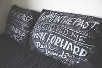Real Friends Official Online Merch Store - PAIR OF PILLOW CASES - MOVING FORWARD