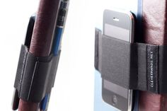 Smart Phone Journal Bandolier // custom // (a better pencil case, journal pen holder, book strap, pen loop, pencil roll, pen bandolier) by cleverhands on Etsy https://www.etsy.com/listing/91811510/smart-phone-journal-bandolier-custom-a