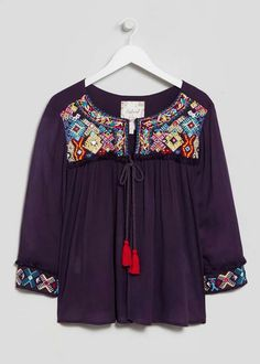 Falmer Embroidered Jacket Blouse View 4