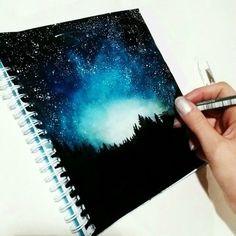 draw galaxy space stars night