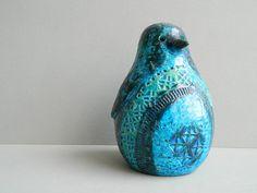 Bitossi Blue Rimini Ceramic Penguin by Aldo Londi by MonkiVintage, $68.00