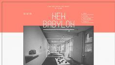 New Babylon - Web design inspiration from siteInspire