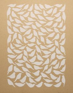White Birds HandPulled Screenprint Limited by HeartandCrafts, $20.00