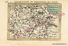 Description du Palatinat du Rhin or Palatinatus Rheni (Germany) - Antique Maps and Charts – Original, Vintage, Rare Historical Antique Maps, Charts, Prints, Reproductions of Maps and Charts of Antiquity