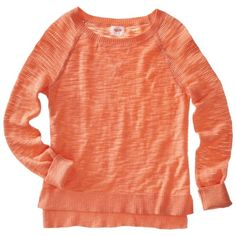 Mossimo Supply Co. Juniors Mesh Sleeve Raglan Sweater - Assorted Colors