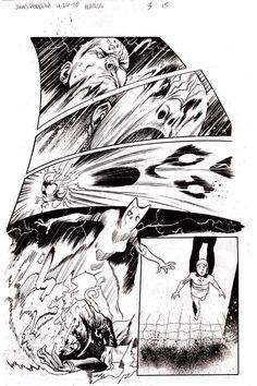 Heralds issue 3 page 15 by JHarren on deviantART Comic Book Pages, Comic Book Artists, Comic Books Art, Comic Art, Comic Frame, Black And White Comics, Comic Layout, Graphic Novel Art, Bd Comics