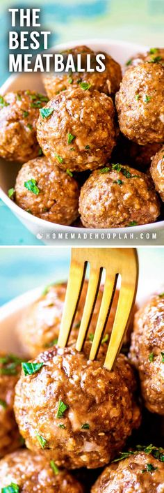 The Best Meatballs! The Best Meatballs! Whether you're prepping for dinner or planning a party this all-purpose recipe for the best meatballs can fit any occasion. Easy to adjust to your tastes and serving size! Meatball Recipes, Pork Recipes, Cooking Recipes, Potato Recipes, Pasta Recipes, Crockpot Recipes, Chicken Recipes, Recipies, Appetizers