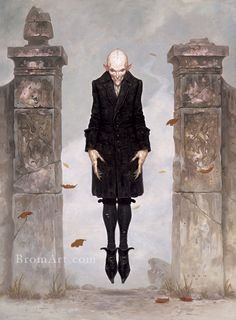 Dirt and Blood by Brom, an amazing artist I've admired for some time!!! #brom #vampire