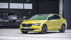 Image - Skoda's Superb Sportline with Dragon Skin paint is one true flagship - view high resolution image / photo page Skin Paint, Dragon Skin, Volkswagen Group, Skoda Fabia, Limousin, Cars, Man Cave, Motorcycles, Yellow