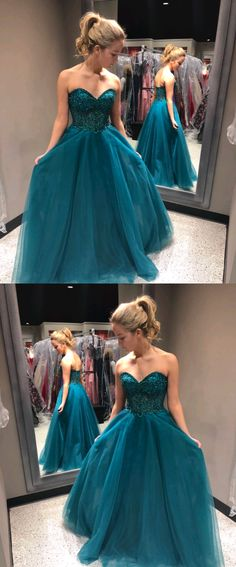 Sweetheart Beading A-Line Prom Dresses,Long Prom Dresses,Cheap Prom Dresses, Evening Dress Prom Gowns, Formal Women Dress,Prom Dress #cheapfashionideas