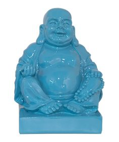 Blue Buddha Statue... need for my living room.  Hotei: Many people confuse him as THE Buddha, when in fact he was a Buddhist monk.