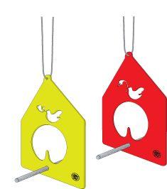 Acrylic laser cut bird feeder