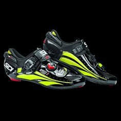 Sidi Ergo 3 Carbon Black/Flo Yellow Vernice | Shoes - Road | Merlin Cycles - Only £249.95