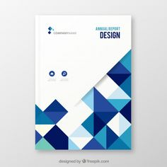 Elegant white and blue annual report cover with geometric shapes Free Vector Annual Report Layout, Annual Report Covers, Cover Report, Banner Design Inspiration, Brochure Design Inspiration, Newsletter Layout, Newsletter Design, Background Design Vector, Geometric Background