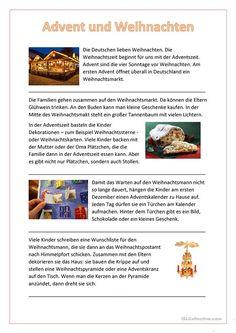 German Language Learning, Language Study, German Christmas Traditions, German Grammar, Grammar And Vocabulary, Learn German, Language Activities, Kindergarten, Teaching
