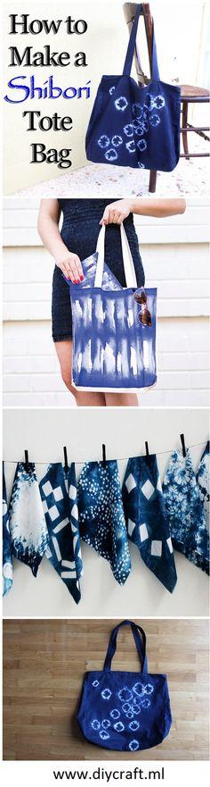 How to Make a Wonderful DIY Shibori Tote Bag