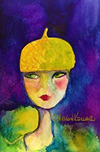 Yellow's Acorn Hat Commissioned by Suz, the personification of yellow