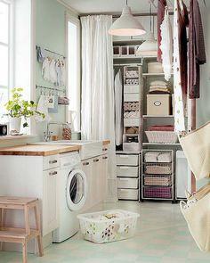 Organize a lavanderia e ganhe mais espaços