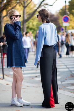 cool x 2. #ElizabethBlack & #SaraGilmour in Paris.
