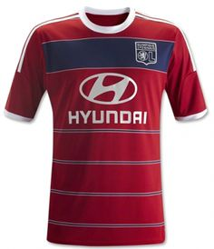 Olympique Lyonnais 2013-2014 season Away Red Jersey [A146]