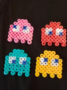 bead weaving patterns for bracelets Easy Perler Bead Patterns, Melty Bead Patterns, Perler Bead Templates, Diy Perler Beads, Perler Bead Art, Pearler Beads, Fuse Beads, Beading Patterns, Loom Patterns